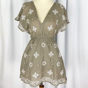 Letarte Luxe Popcorn Embroidered Dress / Coverup